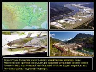 Реки системы Миссисипи имеют большоехозяйственное значение. Воды Миссисипи