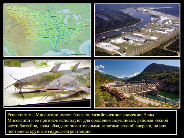 Реки системы Миссисипи имеют большоехозяйственное значение. Воды Миссисипи...