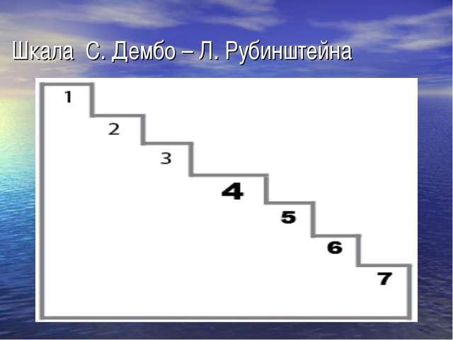 Шкала С. Дембо – Л. Рубинштейна