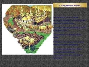 2. Ассирийское войско. Значительную часть Ассирии составляли предгорья и горы