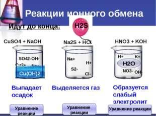 Составление уравнений Молекулярное уравнение HNO3+KOH = KNO3 + H2O Полное ион