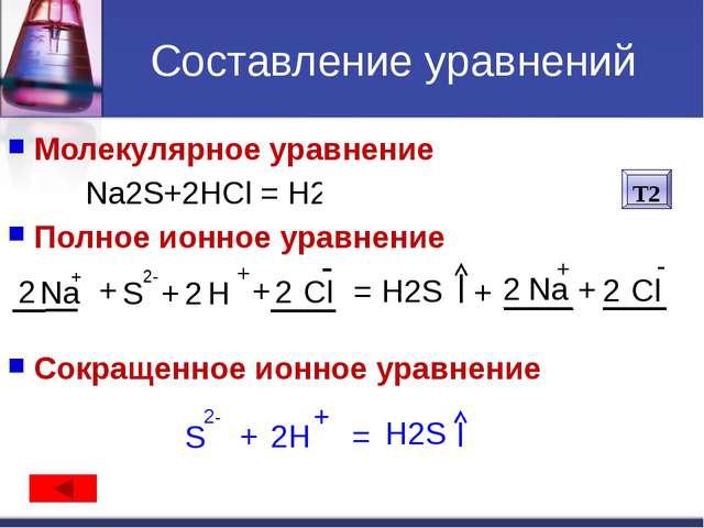 Не расписываются на ионы: Вода H2O. Слабые кислоты (HNO2, H2CO3, H2SO3, CH3CO...