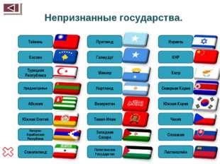 Непризнанные государства. Сомалиленд Нагорно-Карабахская Республика Южная Осе
