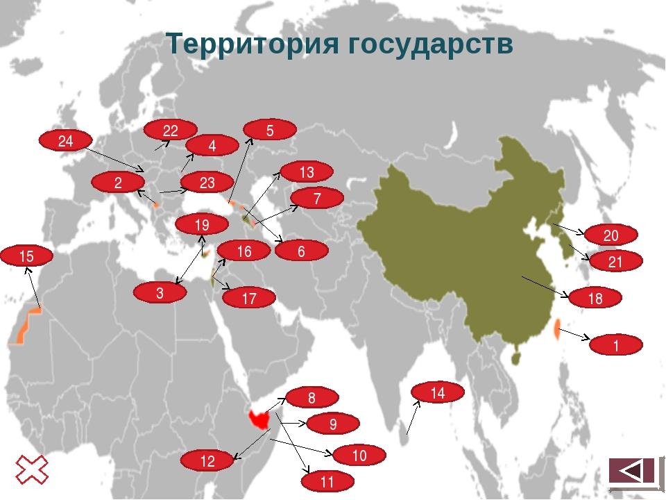 Территория государств 18 1 8 9 7 13 15 4 17 6 2 19 5 3 10 11 12 14 16 20 21...