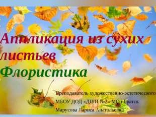 Аппликация из сухих листьев Флористика Преподаватель художественно-эстетическ