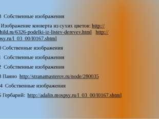 Слайд №18 Собственные изображения Сайт № 19 Изображение конверта из сухих цв