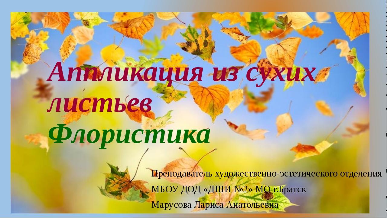 Аппликация из сухих листьев Флористика Преподаватель художественно-эстетическ...