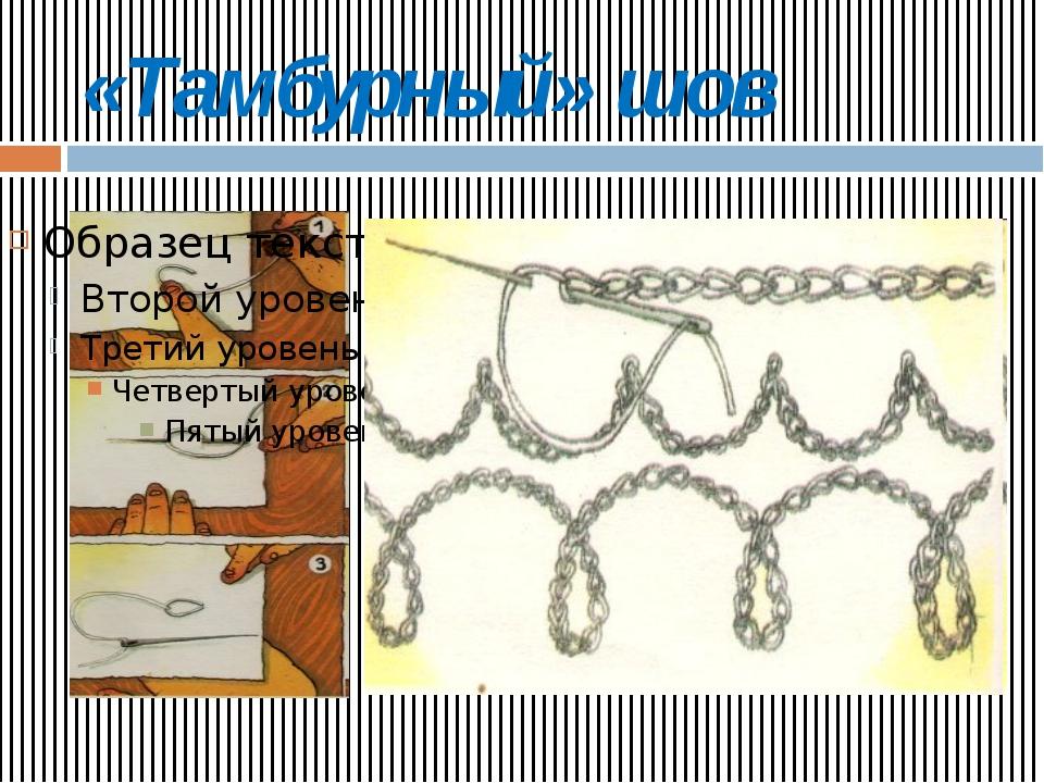 «Тамбурный» шов