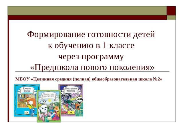 Формирование готовности детей к обучению в 1 классе через программу «Предшкол...