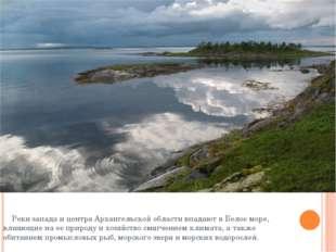 Реки запада и центра Архангельской области впадают в Белое море, влияющие на