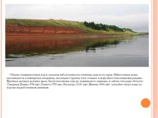 Обилие поверхностных вод и сильная заболоченность типичны для этого края. Из