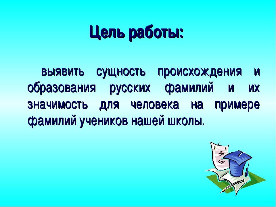 Реферат на тему происхождение русских фамилий 7186