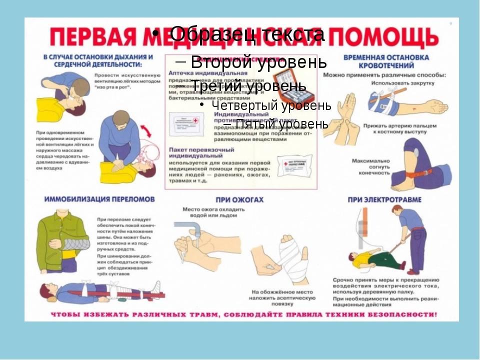 Оказание первой медицинской помощи при дтп инструкция