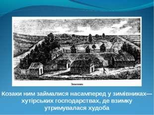 Козаки ним займалися насамперед у зимівниках— хутірських господарствах, де вз