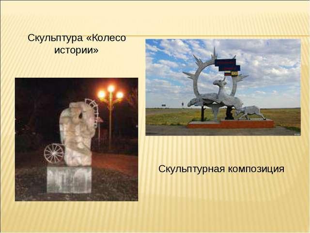 Скульптура «Колесо истории» Скульптурная композиция