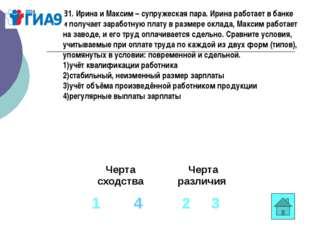 В1. Ирина и Максим –супружеская пара. Ирина работает в банке и получает зара