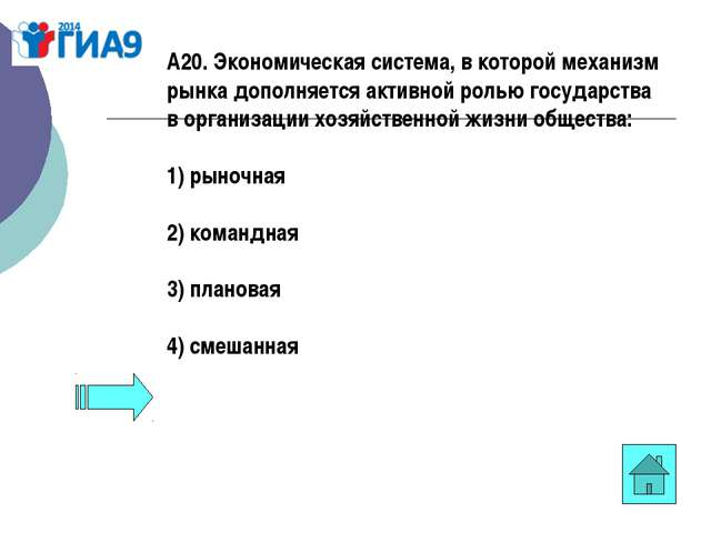 А20. Экономическая система, в которой механизм рынка дополняется активной рол...