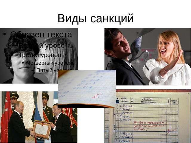 Виды санкций