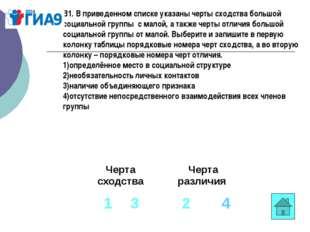 В1. В приведенном списке указаны черты сходства большой социальной группыс