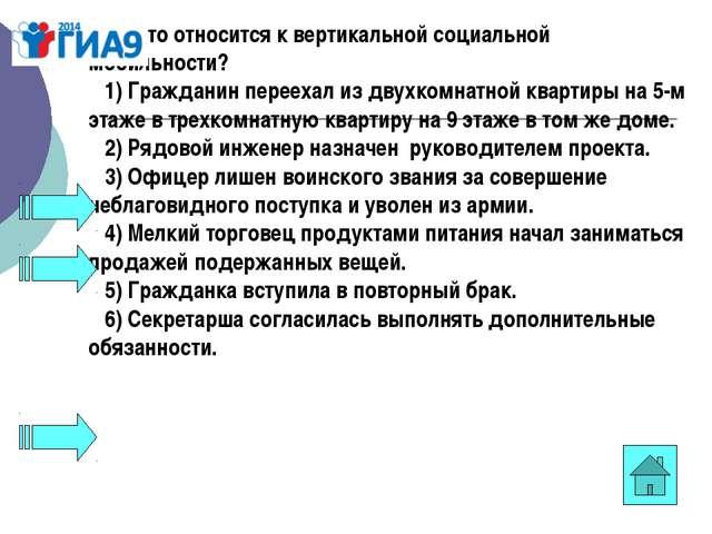 А15. Что относится к вертикальной социальной мобильности? 1)Гражданин пер...