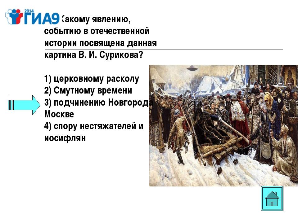 А5. Какому явлению, событию в отечественной истории посвящена данная картина...