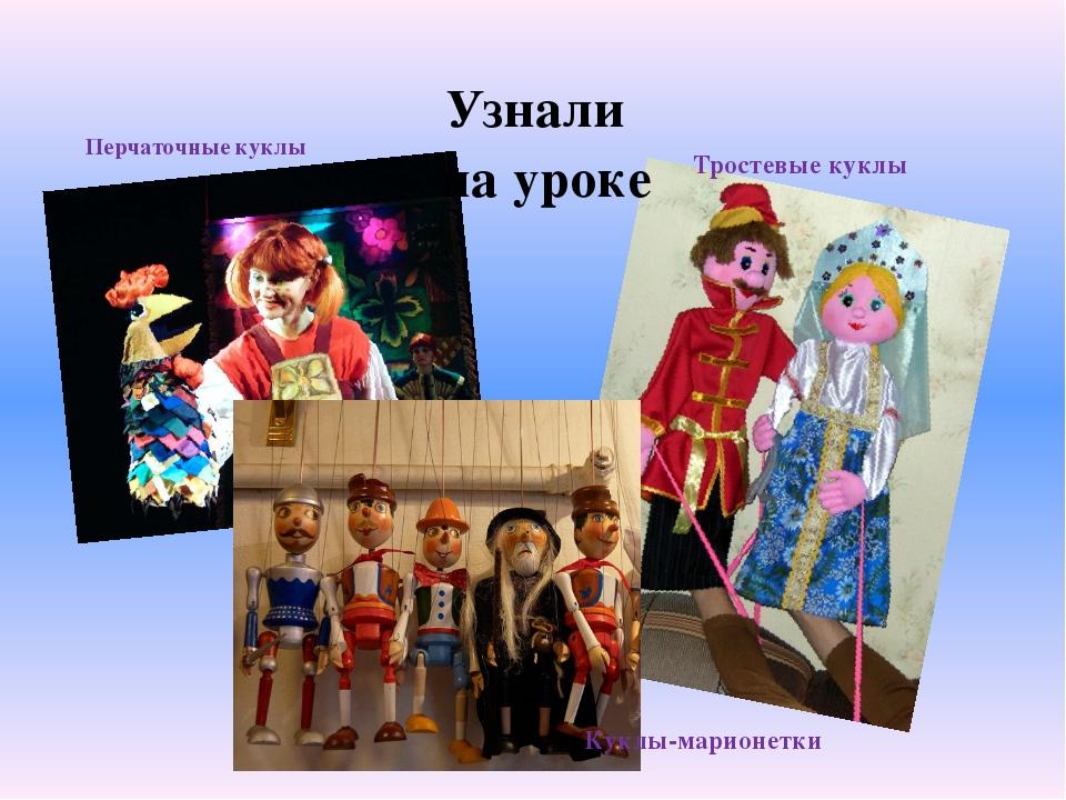 Узнали на уроке Куклы-марионетки Тростевые куклы Перчаточные куклы