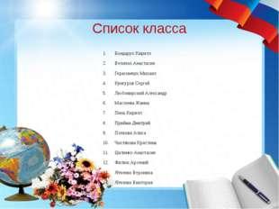 Список класса Бондарук Кирилл Величко Анастасия Герасимчук Михаил Кунгуров Се
