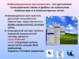 Информационное пространство - это доступные пользователю папки и файлы на лок