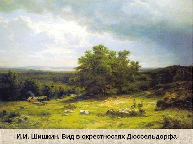 И.И.Шишкин. Вид в окрестностяхДюссельдорфа