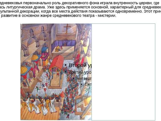В период средневековья первоначально роль декоративного фона играла внутренно...