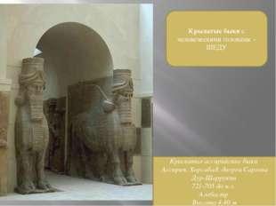 Крылатые быки с человеческими головами - ШЕДУ Крылатые ассирийские быки Ассир