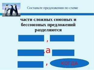 Составьте предложения по схеме части сложных союзных и бессоюзных предложени