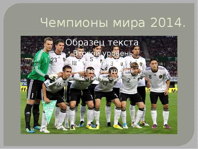 Чемпионы мира 2014.