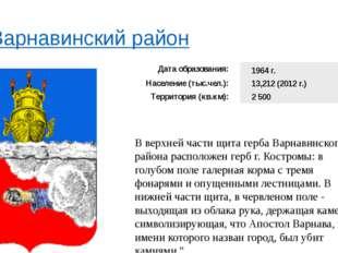 Варнавинский район В верхней части щита герба Варнавинского района располож