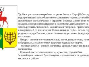 Удобное расположение района на реках Волга и Сура (Чебоксарское водохранилищ