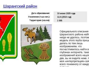 Шарангский район Официального описания герба Шарангского района найти нигде