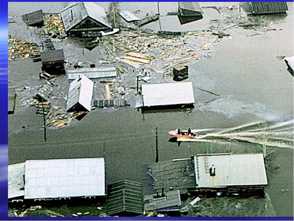 Затопление - покрытие окружающей местности слоем воды. При этом под водой мог...