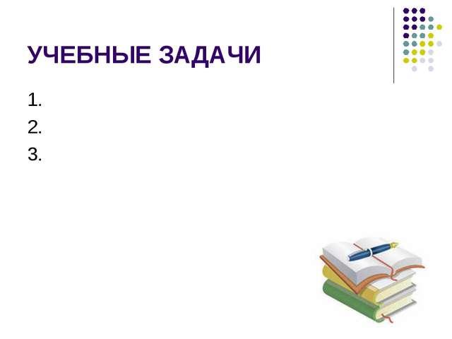УЧЕБНЫЕ ЗАДАЧИ 1. 2. 3.