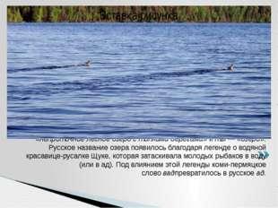 Коми-пермяцкоеназвание озераВадтыпроисходит от двух слов:вад— «непроточн