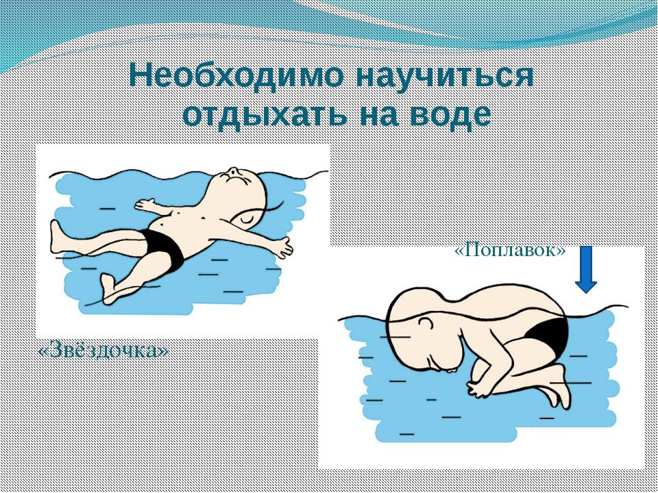 Необходимо научиться отдыхать на воде «Звёздочка» «Поплавок»