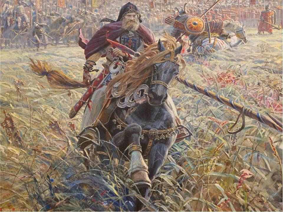 Согласно житию преподобного Сергия Радонежского, перед Куликовской битвой кня...