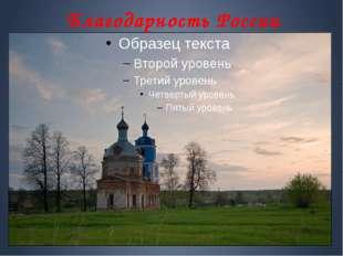 Благодарность России