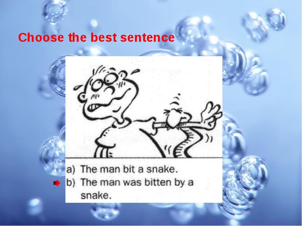 Choose the best sentence