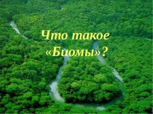 Что такое «Биомы»?