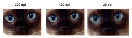 пример изображения при разном значении PDI