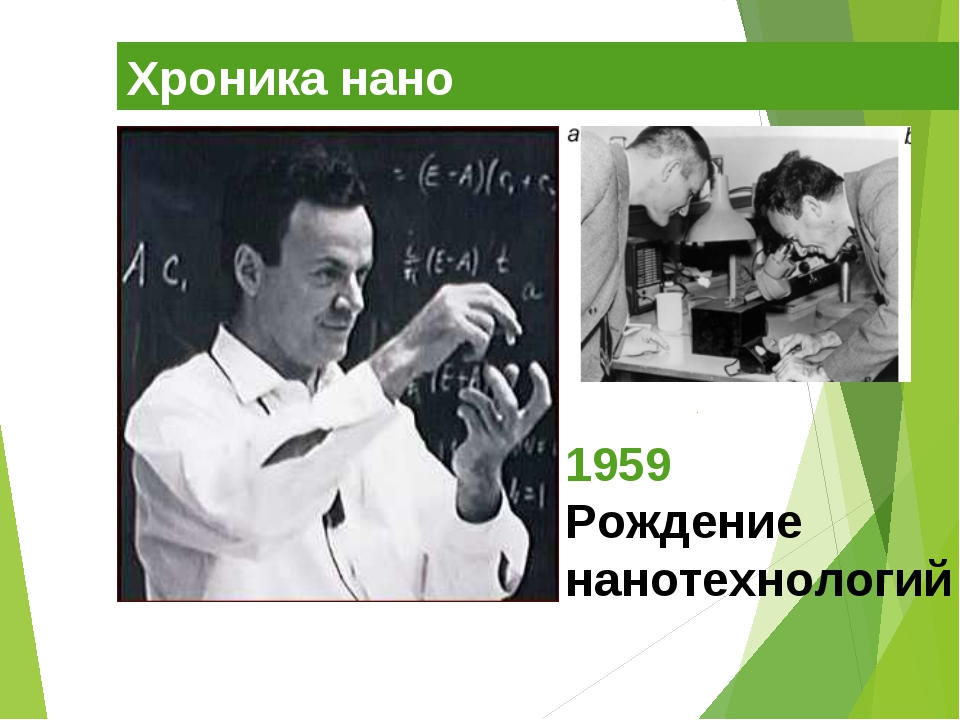 Хроника нано 1959 Рождение нанотехнологий