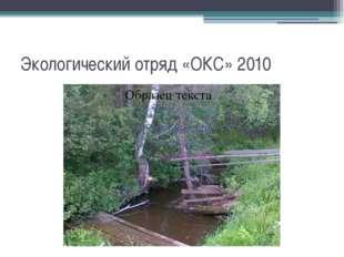 Экологический отряд «ОКС» 2010