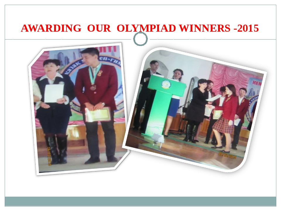 AWARDING OUR OLYMPIAD WINNERS -2015