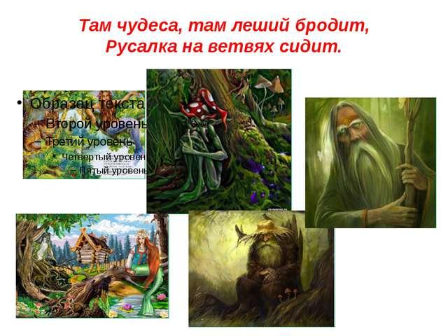 Там чудеса, там леший бродит, Русалка на ветвях сидит.