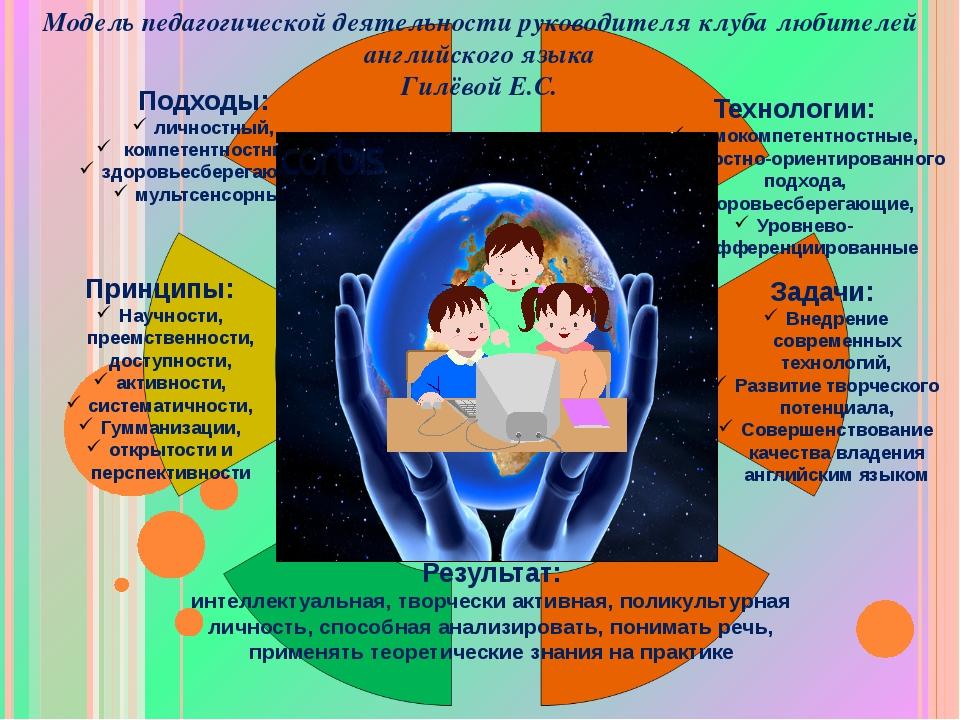 Подходы: личностный, компетентностный, здоровьесберегающий, мультсенсорный Те...